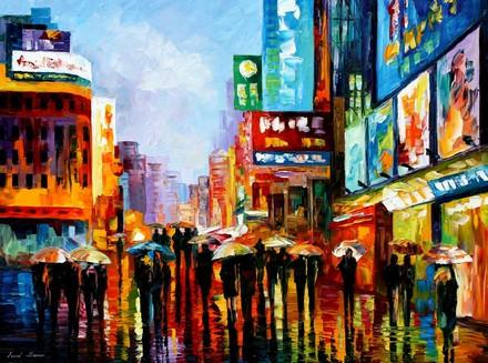 luces+de+la+ciudad+pintura+al+oleo+original+de+leonid+afremov+cozumel+quintana+roo+mexico__7282AC_1